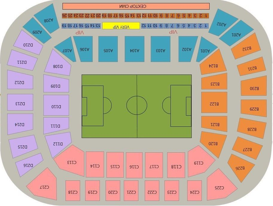 Nizhny Novgorod Stadium Seating Chart and layout