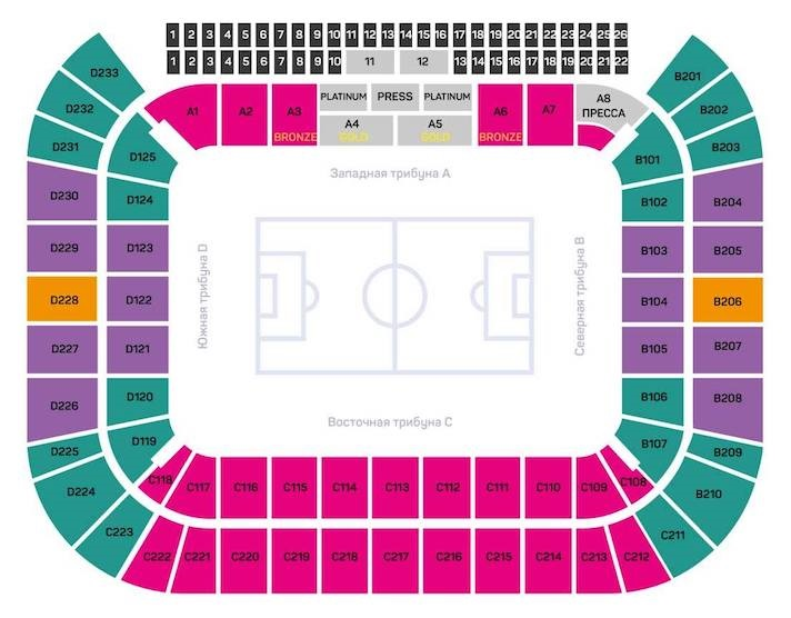 Spartak Stadium Seating Chart and seat layout