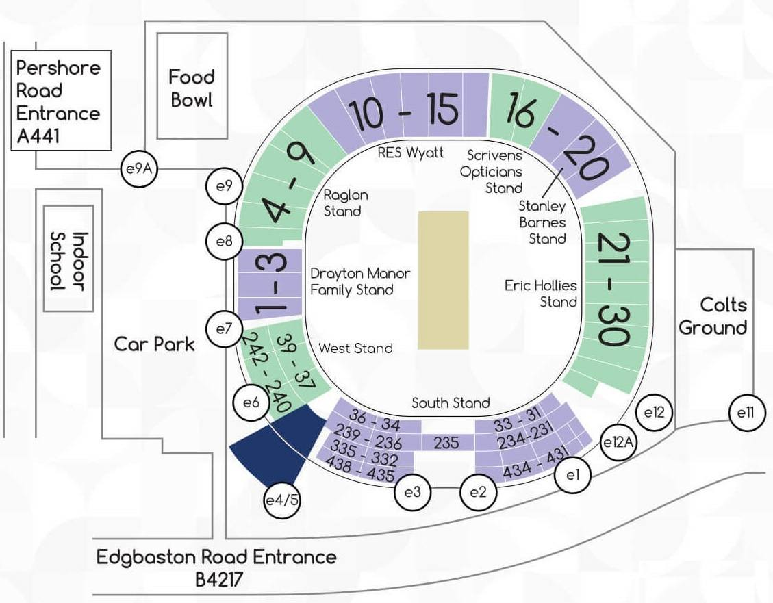 Edgbaston Stadium Seating Plan and Chart